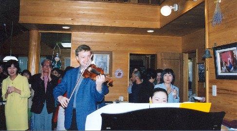 Pavel Eret with pianist Emiko Morimoto, 1999