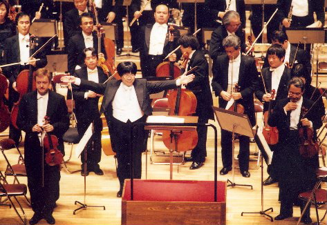 Pavel Eret with the Nagoya Philharmonic Orchestra