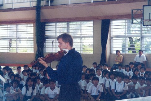The pupils was concetrated during my concert, 2000