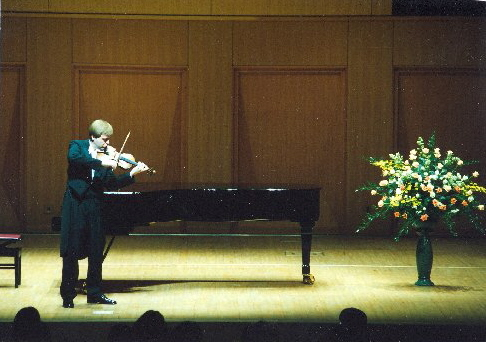 Pavel Eret plays a composition for violin solo, 2001