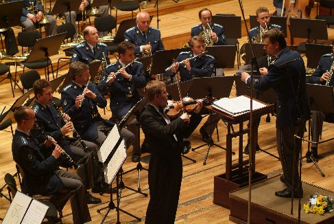At the festival Prague Spring 2005 with the Prague Castle Guard and Czech Police Wind Orchestra