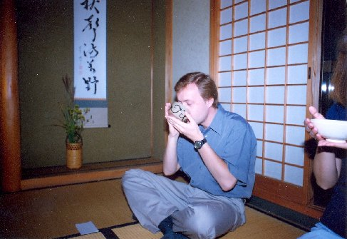 I finished the day by the tea ceremony, 2000