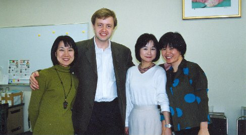 With my colleagues from the violin section, 2001