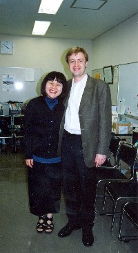 With violinist Chinami Takeda, 2001